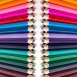 Fundo abstrato de lápis coloridos Fotos de Stock Royalty Free