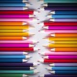 Fundo abstrato de lápis coloridos Imagem de Stock Royalty Free