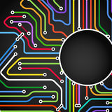 Fundo abstrato de linhas do metro da cor Imagem de Stock Royalty Free