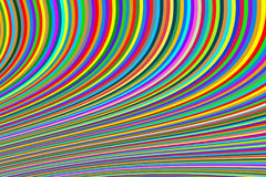 Fundo abstrato de linhas estreitas brilhantes em uma multi-cor da curvatura ilustração do vetor
