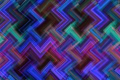 Fundo abstrato de linhas iridescentes coloridos do ziguezague Imagem de Stock