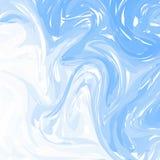 Fundo abstrato de mármore branco azul do vetor Teste padrão de mármore líquido Molde na moda para o projeto, casamento, convite,  ilustração stock