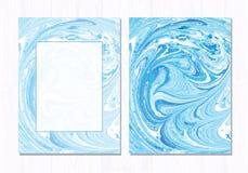 Fundo abstrato de mármore do vetor Teste padrão de mármore líquido Molde na moda Fotografia de Stock Royalty Free