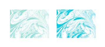 Fundo abstrato de mármore do vetor Teste padrão de mármore líquido Molde na moda Fotos de Stock
