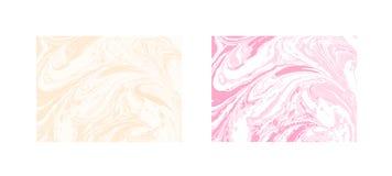 Fundo abstrato de mármore do vetor Teste padrão de mármore líquido Molde na moda Fotografia de Stock