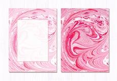 Fundo abstrato de mármore do vetor Teste padrão de mármore líquido Molde na moda Imagens de Stock Royalty Free