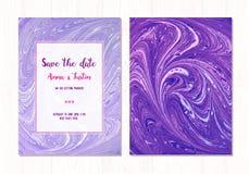 Fundo abstrato de mármore do vetor Teste padrão de mármore líquido Molde na moda Imagem de Stock Royalty Free