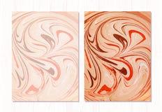 Fundo abstrato de mármore do vetor Teste padrão de mármore líquido Molde na moda Foto de Stock