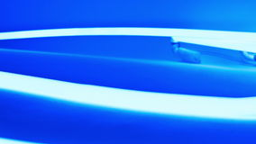 Fundo abstrato de néon azul do movimento filme