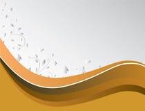 Fundo abstrato de ondas amarelas ilustração do vetor