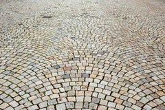 Fundo abstrato de pedras de pavimentação retangulares em um semicírculo fotografia de stock royalty free