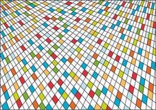 Fundo abstrato de quadrados coloridos Ilustração do Vetor