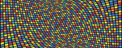 Fundo abstrato de quadrados coloridos Imagens de Stock