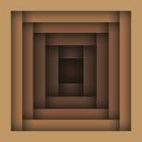Fundo abstrato de quadros de madeira de tamanhos diferentes Fotos de Stock