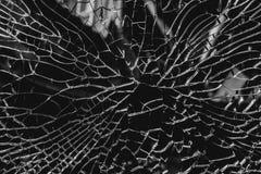 Fundo abstrato de vidro rachado e quebrado Foto de Stock Royalty Free