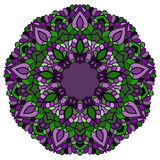Fundo abstrato decorativo colorido brilhante do laço do mão-desenho com muitos detalhes para o uso no projeto ilustração royalty free
