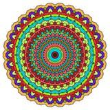 Fundo abstrato decorativo colorido brilhante do laço do mão-desenho com muitos detalhes para o uso no projeto ilustração stock
