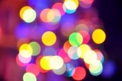 Fundo abstrato Defocused das luzes de Natal Fotografia de Stock