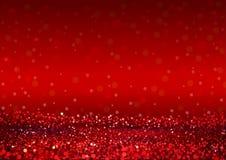 Fundo abstrato Defocused das luzes vermelhas Foto de Stock Royalty Free