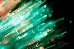Fundo abstrato Defocused dos cabos de fibra ótica Imagens de Stock