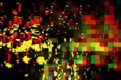 Fundo abstrato digital da distorção dos produtos manufaturados do pulso aleatório, canal ilustração stock