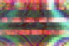 Fundo abstrato digital da distor??o dos produtos manufaturados do pulso aleat?rio, grunge mau ilustração stock