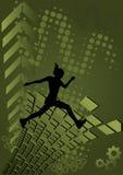 Fundo abstrato dinâmico verde Foto de Stock Royalty Free