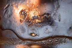 Fundo abstrato do óleo misturado com água Imagens de Stock Royalty Free