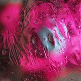 Fundo abstrato do óleo misturado com água Foto de Stock Royalty Free