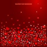 Fundo abstrato do amor do vetor para seu projeto do dia de Valentim Fotos de Stock