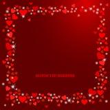 Fundo abstrato do amor do vetor para seu projeto do dia de Valentim Imagem de Stock