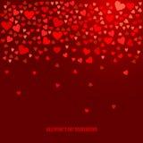 Fundo abstrato do amor do vetor para seu projeto do dia de Valentim Foto de Stock Royalty Free