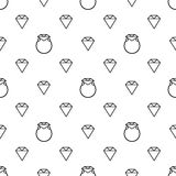 Fundo abstrato do anel de diamante ilustração stock