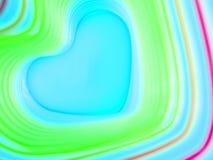 Fundo abstrato do arco-íris Coração colorido Fundo do dia do ` s do Valentim Frame azul do coração Fotos de Stock