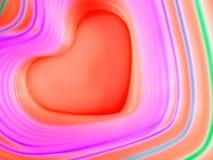 Fundo abstrato do arco-íris Coração colorido Fundo do dia do ` s do Valentim Frame vermelho do coração Imagens de Stock
