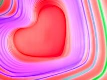 Fundo abstrato do arco-íris Coração colorido Fundo do dia do ` s do Valentim Frame vermelho do coração Fotos de Stock Royalty Free