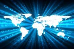 Fundo abstrato do azul da matriz Imagens de Stock Royalty Free