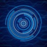 Fundo abstrato do azul da tecnologia do Internet Foto de Stock