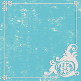 Fundo abstrato do azul do Grunge Quadro do ornamento Foto de Stock