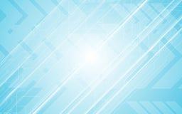 Fundo abstrato do azul do projeto do movimento da velocidade da seta do teste padrão do circuito do conceito da inovação de uma c ilustração royalty free
