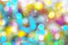 Fundo abstrato do bokeh da cor da luz de Natal Imagens de Stock Royalty Free
