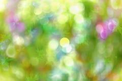 Fundo abstrato do bokeh da cor da luz de Natal Foto de Stock