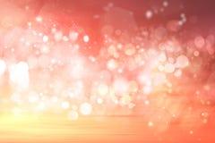 Fundo abstrato do bokeh de luzes do feriado Imagens de Stock