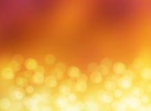 Fundo abstrato do borrão do bokeh do ouro da luz do efeito fotos de stock