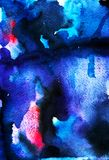 Fundo abstrato do céu da aquarela foto de stock