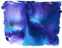 Fundo abstrato do céu da aquarela fotos de stock