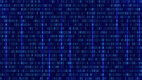 Fundo abstrato do código binário da tecnologia Dados binários a de Digitas Foto de Stock Royalty Free