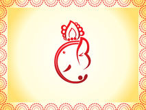 Fundo abstrato do chaturthi do ganesha Fotografia de Stock