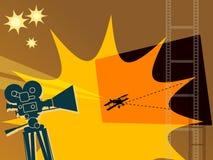 Fundo abstrato do cinema ilustração stock