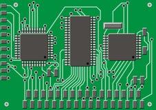 Fundo abstrato do circuito da eletrônica ilustração do vetor